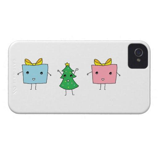 Caisse audacieuse de Blackberry de Noël mignon Coques iPhone 4 Case-Mate