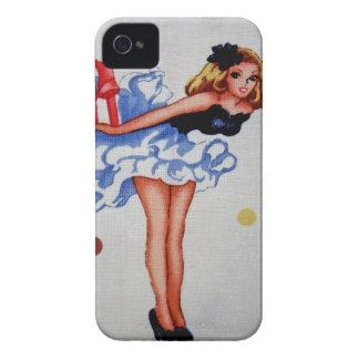 Caisse audacieuse de Blackberry de tissu vintage G Coque Case-Mate iPhone 4
