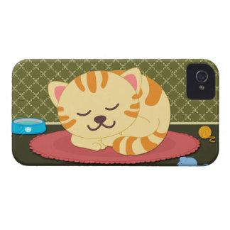 Caisse audacieuse de minou de chat de sommeil de m coques Case-Mate iPhone 4