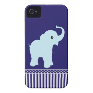 Caisse audacieuse de mûre bleue de pois d'éléphant coques iPhone 4