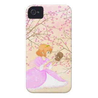 Caisse audacieuse rose de Blackberry de princesse  Étui iPhone 4
