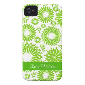 Caisse audacieuse verte florale vintage de Blackbe Étuis iPhone 4