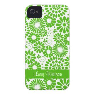 Caisse audacieuse verte florale vintage de Blackbe Coques iPhone 4