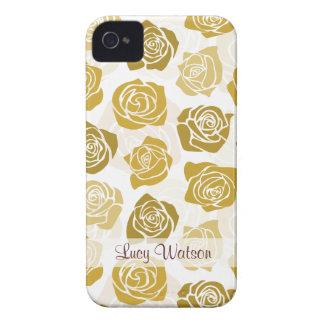 Caisse audacieuse vintage de Blackberry de roses b Étui iPhone 4