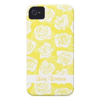 Caisse audacieuse vintage de Blackberry de roses j Coques Case-Mate iPhone 4