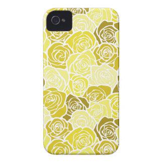 Caisse audacieuse vintage de Blackberry de roses j Coques iPhone 4 Case-Mate