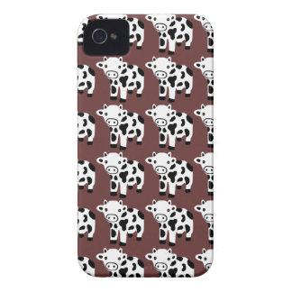 Caisse blanche et noire de nouveau Brown mignon de Coque iPhone 4 Case-Mate