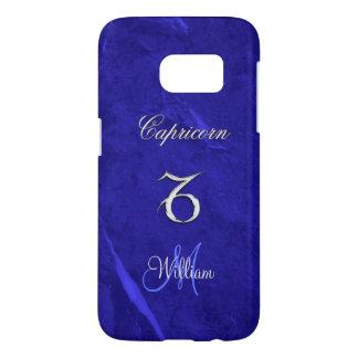 Caisse bleue du bord S7 de galaxie de Capricorne Coque Samsung Galaxy S7