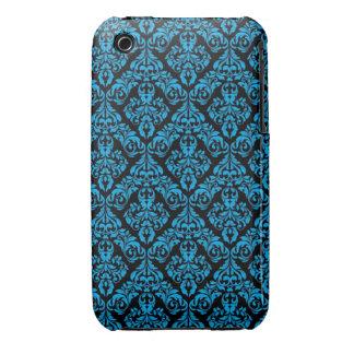 Caisse bleue et noire de courbe de Blackberry de c Coques iPhone 3