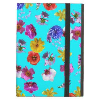 Caisse bleue florale
