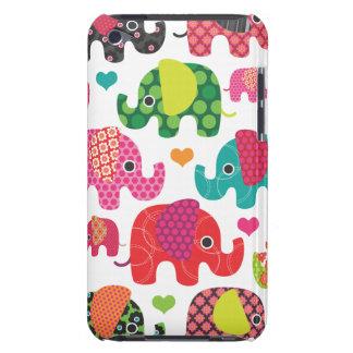 Caisse colorée d'iPod de motif d'enfants d'éléphan