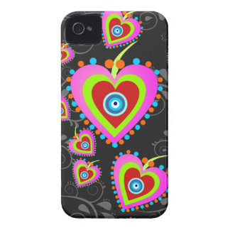 Caisse de Blackberry 9700/9780 de coeurs de sucrer Étuis iPhone 4