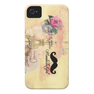 Caisse de Blackberry de moustache Coques iPhone 4 Case-Mate