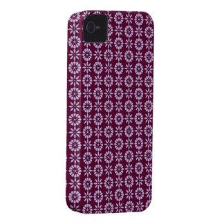 Caisse de Blackberry d'impression florale de prune Étui iPhone 4