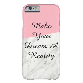 Caisse de marbre et de téléphone de rose coque iPhone 6 barely there
