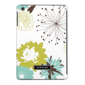 Caisse d'iPad personnalisée par motif floral de Coque iPad Mini Retina