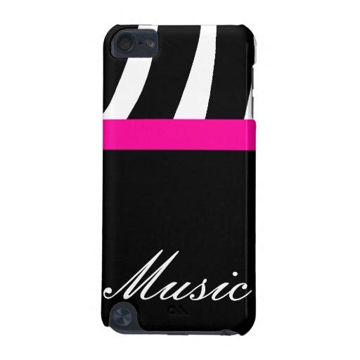 Caisse d'iPod de point de musique de zèbre