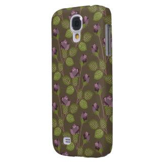 Caisse dure vive assez pourpre des fleurs HTC d'ol Coque Galaxy S4