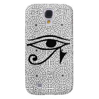 Caisse dure vive égyptienne d'oeil et de motif HTC Coque Galaxy S4