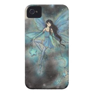 Caisse féerique bleue de Blackberry d'art Coques iPhone 4 Case-Mate
