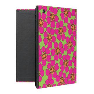 caisse florale au néon d'air d'Ipad Étui iPad