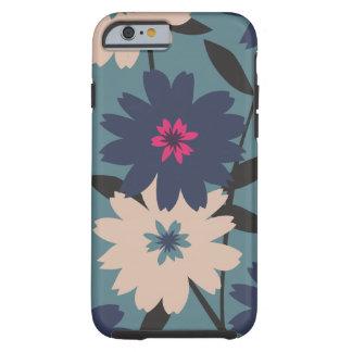 Caisse florale bleue et crème de l'iPhone 6