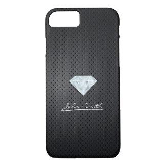 Caisse foncée de l'iPhone 7 en métal de diamant Coque iPhone 7
