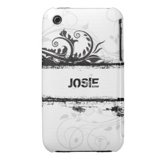 Caisse grunge florale de courbe de Blackberry de Coques iPhone 3 Case-Mate