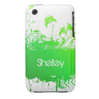 Caisse grunge florale de courbe de Blackberry de Étuis iPhone 3