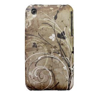 Caisse grunge florale vintage de courbe de Blackbe Étui iPhone 3