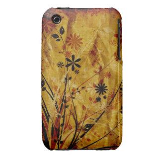 Caisse grunge florale vintage de courbe de coque Case-Mate iPhone 3