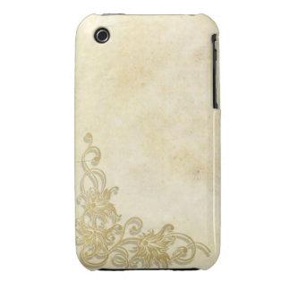 Caisse grunge florale vintage de courbe de coque iPhone 3