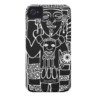 Caisse maya vintage de Blackberry de totem