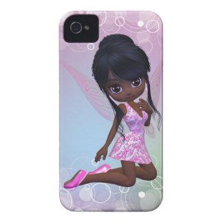 Caisse mignonne de Blackberry de fille d'Afro-amér Coques iPhone 4