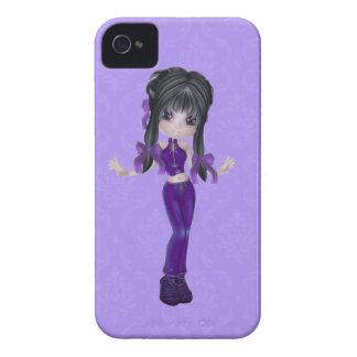 Caisse mignonne de Blackberry de fille de brune Coques iPhone 4