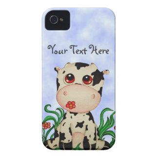Caisse mignonne de Blackberry de vache à bébé Étuis iPhone 4