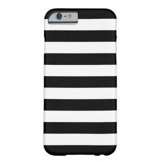Caisse noire et blanche de l'iPhone 6 de rayures Coque iPhone 6 Barely There