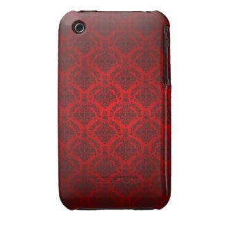 Caisse noire et rouge de courbe de Blackberry de c Étuis iPhone 3