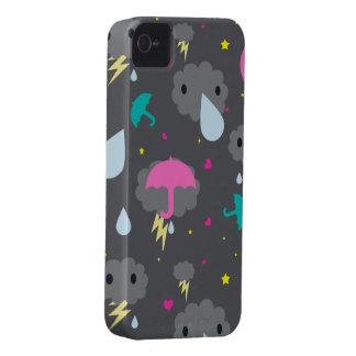 Caisse orageuse de Blackberry de nuages de Kawaii Coque Case-Mate iPhone 4