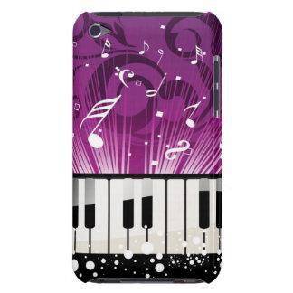 Caisse pourpre de notes musicales et de clés enes  coque Case-Mate iPod touch