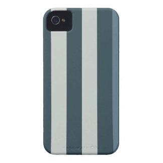 Caisse rayée bleue de Blackberry de conception Coques iPhone 4