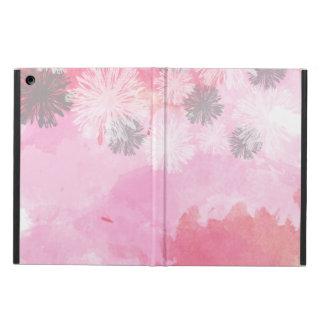 Caisse rose À LA MODE d'air d'iPad de motif floral