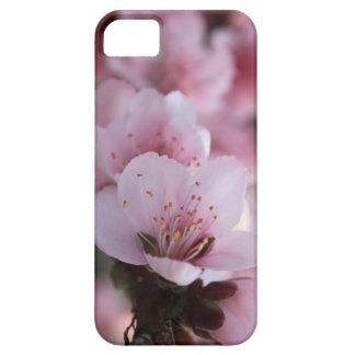 Caisse rose de fleur de fleur étuis iPhone 5