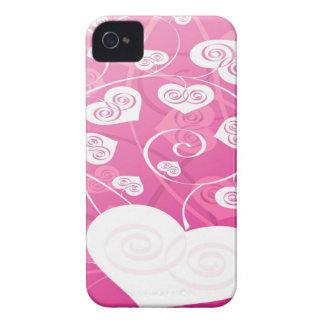 Caisse rose et mignonne de Blackberry Étuis iPhone 4