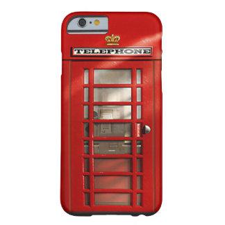 Caisse rouge britannique classique de l'iPhone 6 d