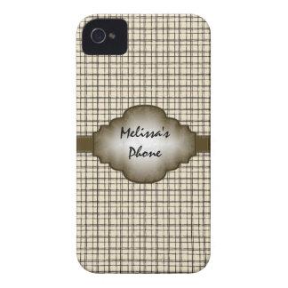 Caisse vintage beige de téléphone de Blackberry de
