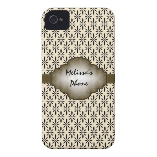 Caisse vintage beige de téléphone de Blackberry de Étui iPhone 4