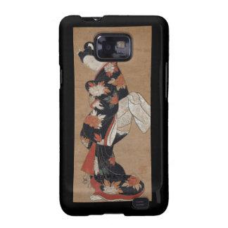 Caisse vintage de Blackberry de geisha Coque Galaxy S2