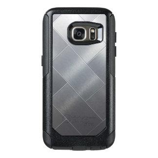 Caisses argentées balayées de Samsung de style Coque OtterBox Samsung Galaxy S7