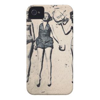 Caisses audacieuses de Blackberry de filles vintag Coques Case-Mate iPhone 4